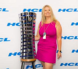 Volvo Ocean Race - Photo with Trophy