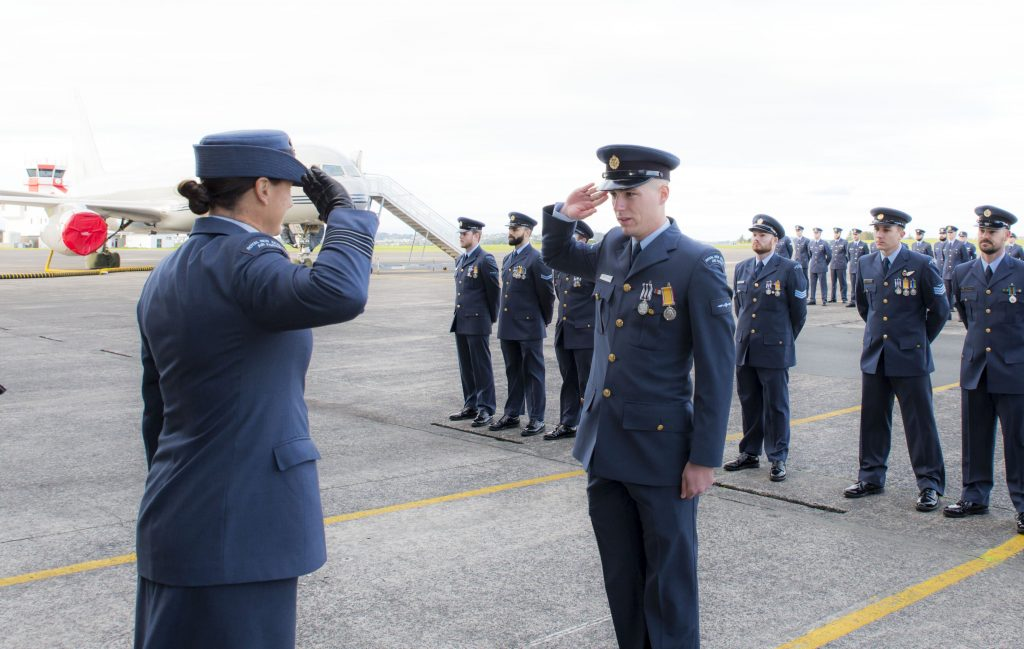 New Zealand Air Force Photography Salute